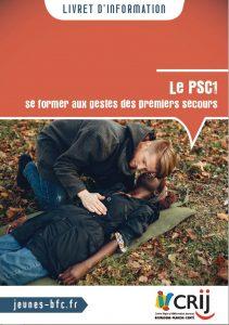 Livret d'information Crij BFC - PSC1 se former aux gestes des premiers secours