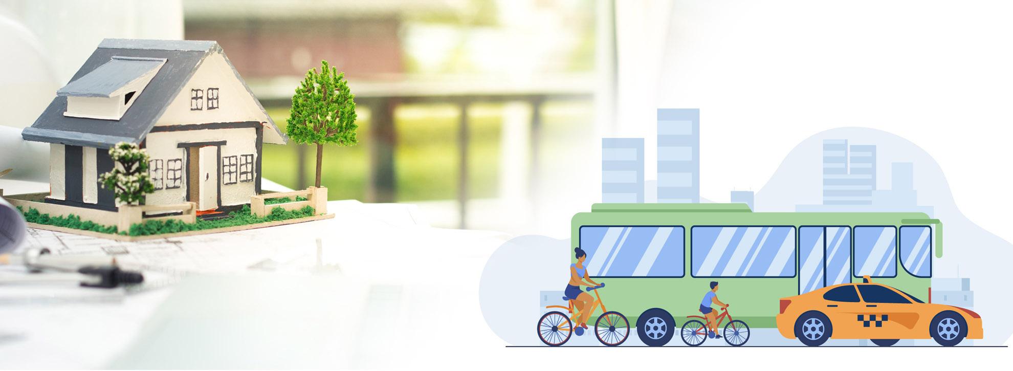 Illustration Logement - Transport