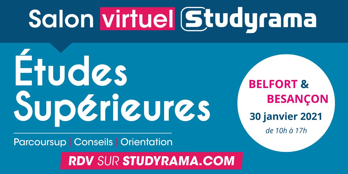 Salons virtuels Studyrama : nouvelles dates à Besançon et Belfort