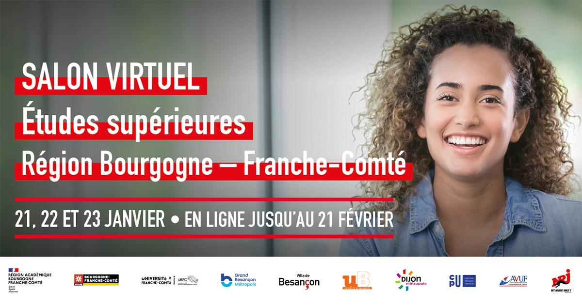 Salon virtuel de L'Etudiant  en Bourgogne-Franche-Comté les 21 – 22 – 23 janvier 2021