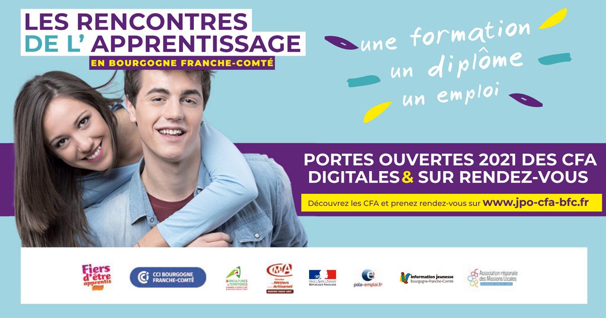 Rencontres de l'apprentissage 2021 en Bourgogne Franche-Comté
