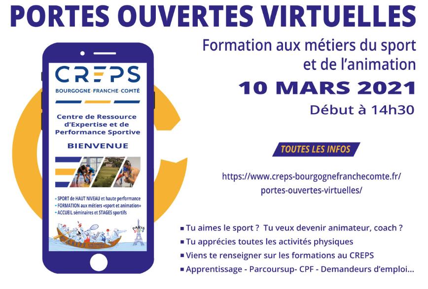 JPO du CREPS Bourgogne-Franche-Comté - 10 mars 2021