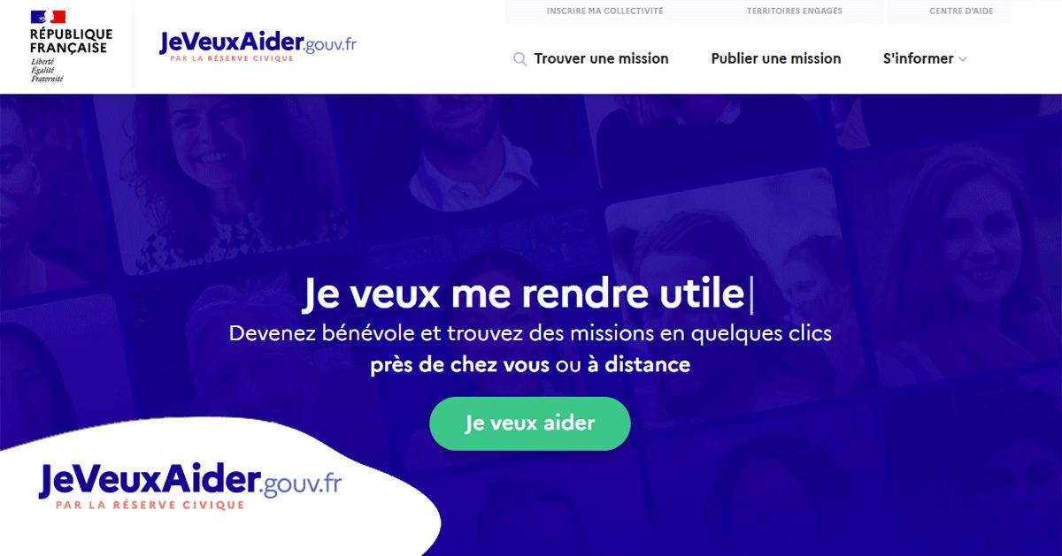 Envie d'être bénévole… rendez-vous sur JeVeuxAider.gouv.fr