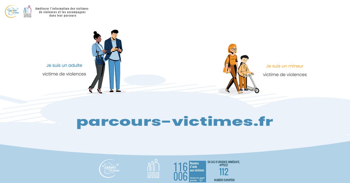 Page d'accueil de parcours-victime.fr