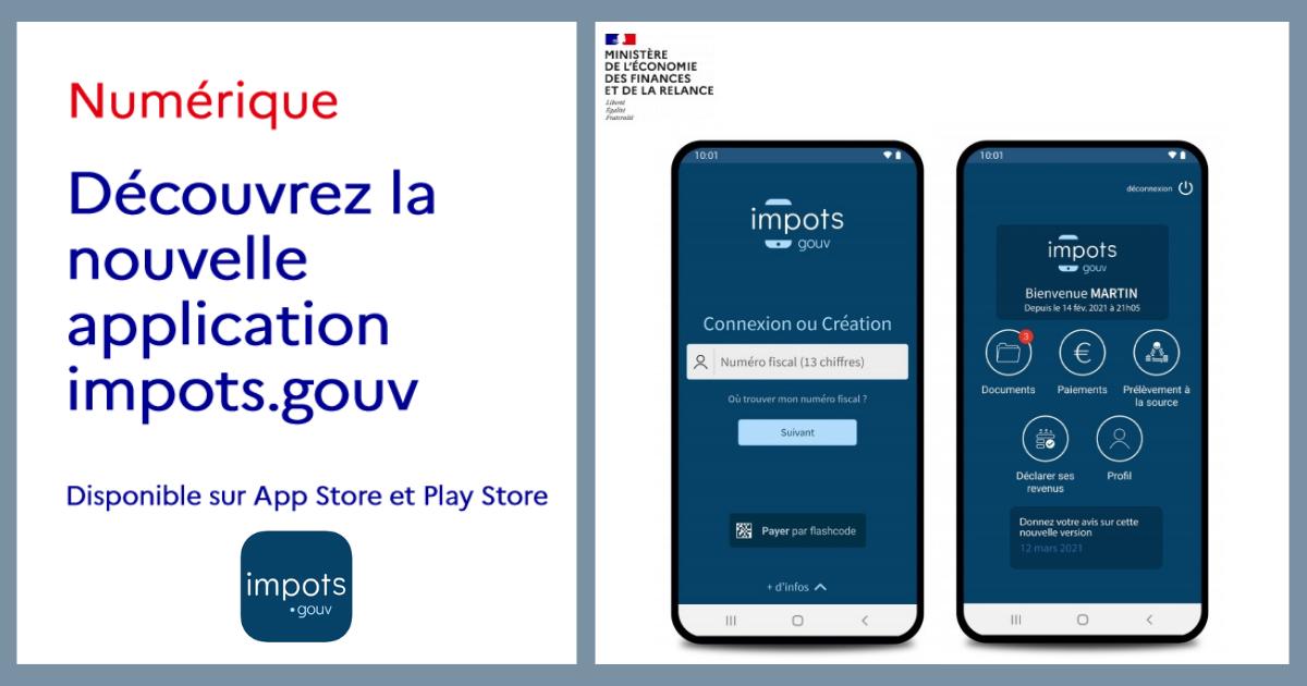 Impôts 2021, utilisez l'appli mobile Impots.gouv