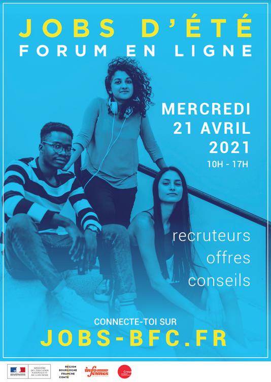 Affiche Forum Jobs d'été 2021