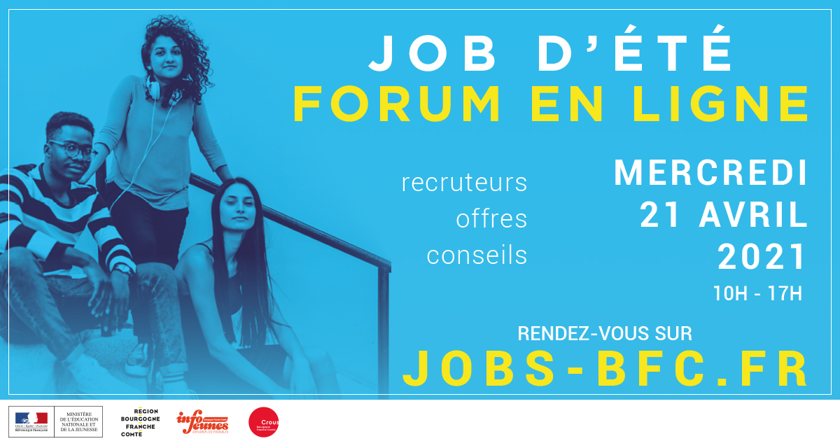 Forum jobs d'été 2021 : un salon 100 % digital