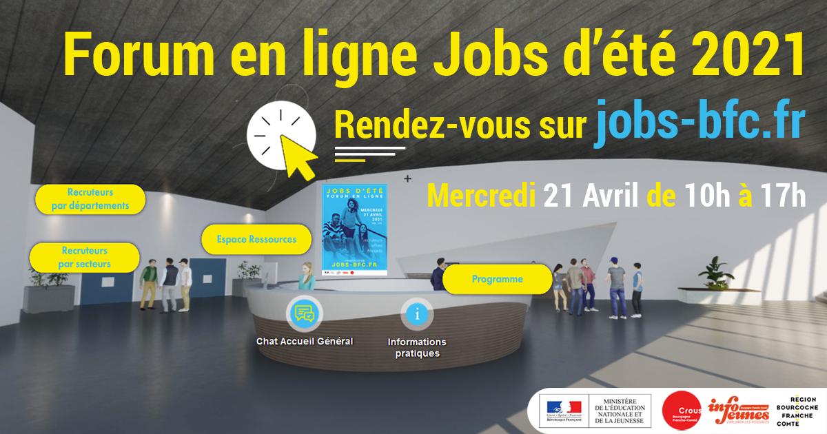 Accès Forum Jobs d'été 2021 en Bourgogne-Franche-Comté