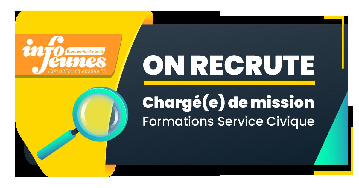 Info Jeunes Bourgogne-Franche-Comté (Crij) recrute un.e Chargé.e de Mission Formation Service Civique