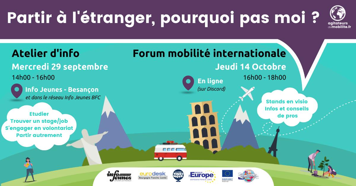 Bandeau atelier forum mobilite internationale Info Jeunes BFC