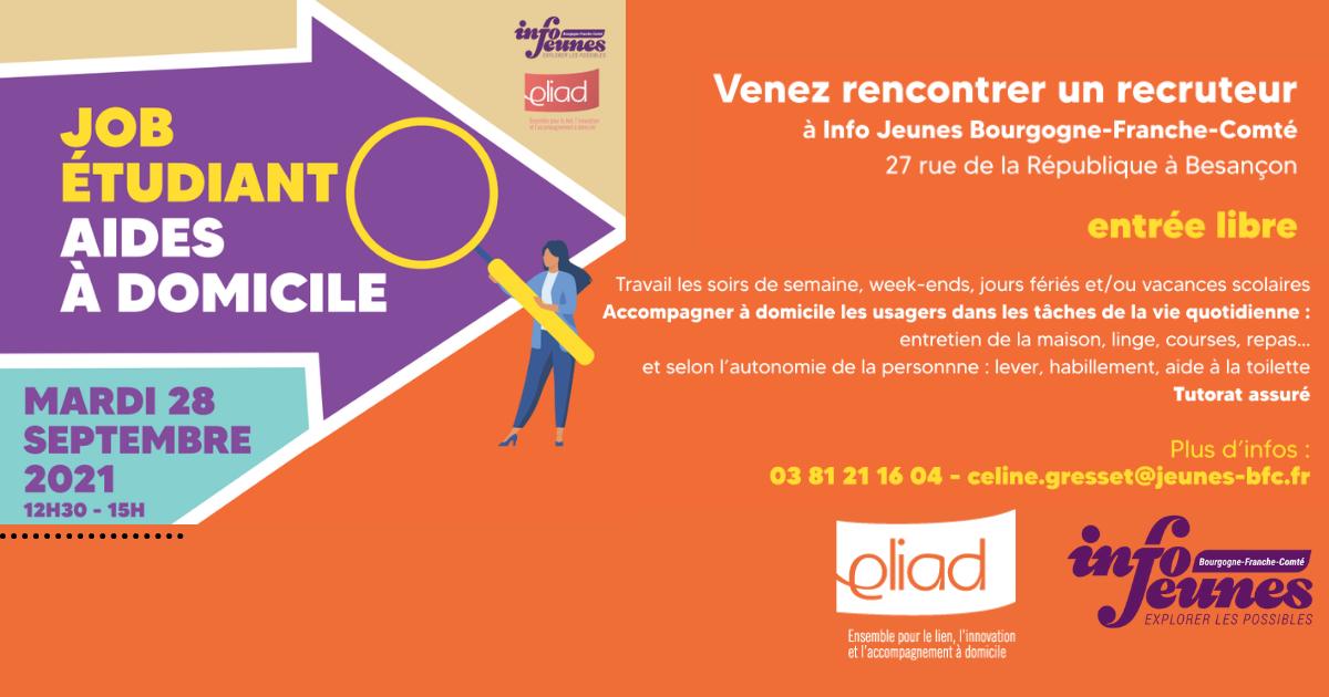 Jobs étudiants : Eliad recrute des aides à domicile